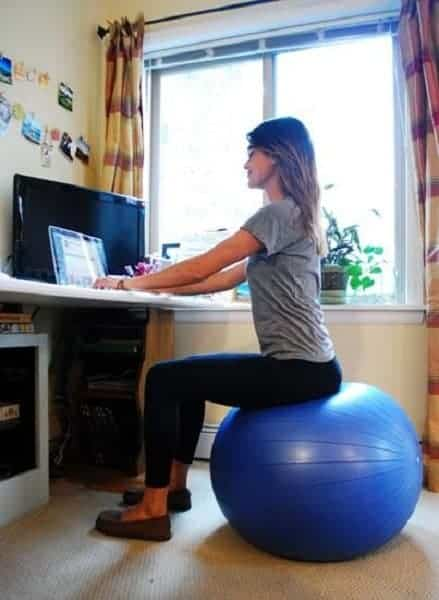 Find the Right Size Exercise Ball for Sitting at Desk